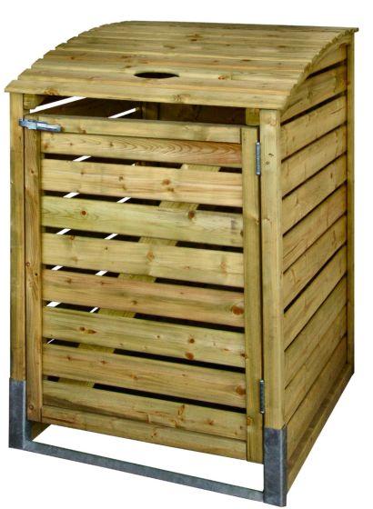 cache poubelle en bois 80x122x90cm
