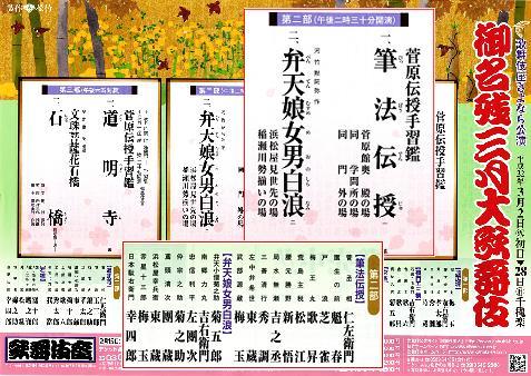 御名残三月大歌舞伎の演目