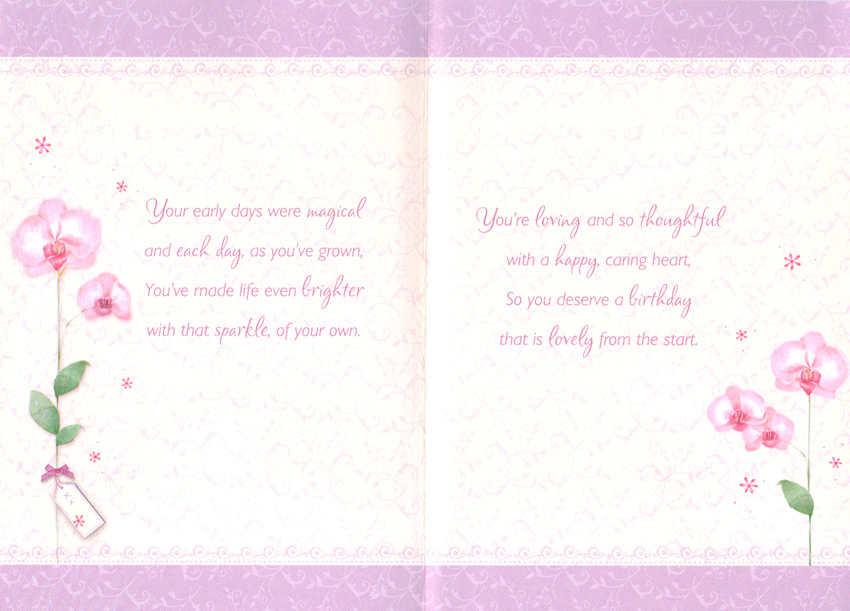 Wholesale Birthday Daughter Greeting Card 16742