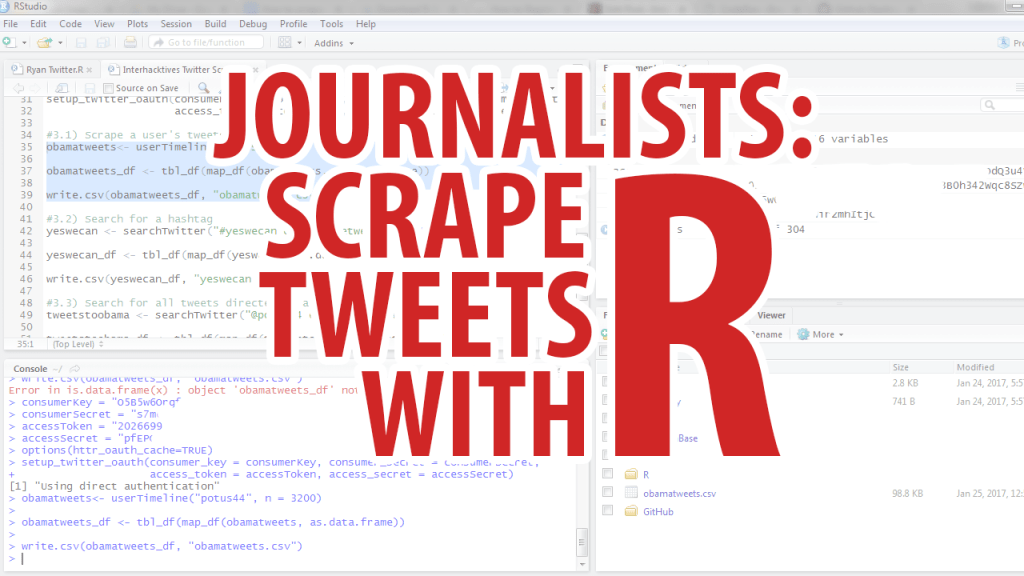 How to scrape tweets using R for journalists - Interhacktives