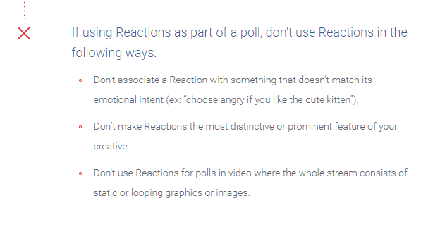 facebook reaction rules