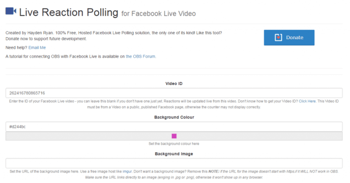 polling form for live