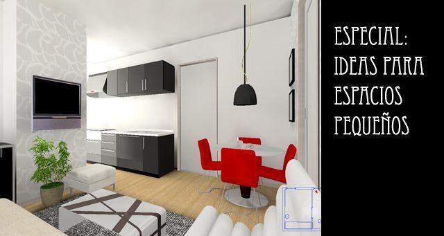 Especial ideas para espacios peque os for Decoracion depto chico