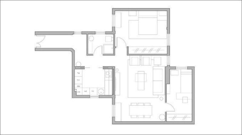 Reforma, mobiliario y decoración piso para alquilar