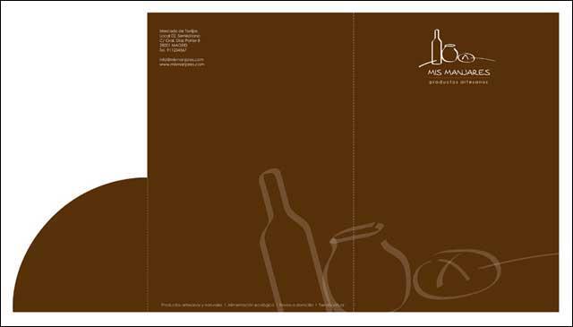 Diseño gráfico tienda gourmet
