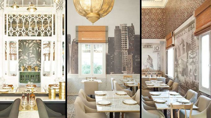 Decoraci n del restaurante liza en beirut - Decoracion arabe interiores ...