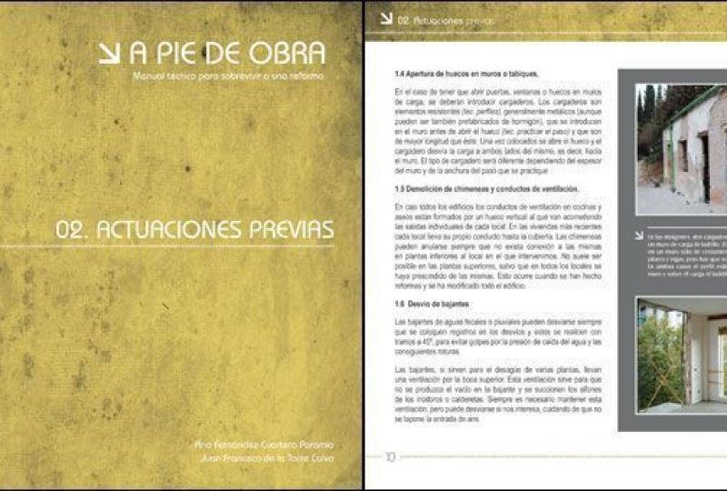Libro sobre reformas, A Pie de Obra