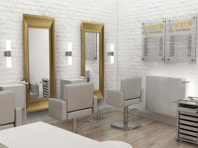 Dise o de locales peluquer a amelie for Iluminacion para peluquerias