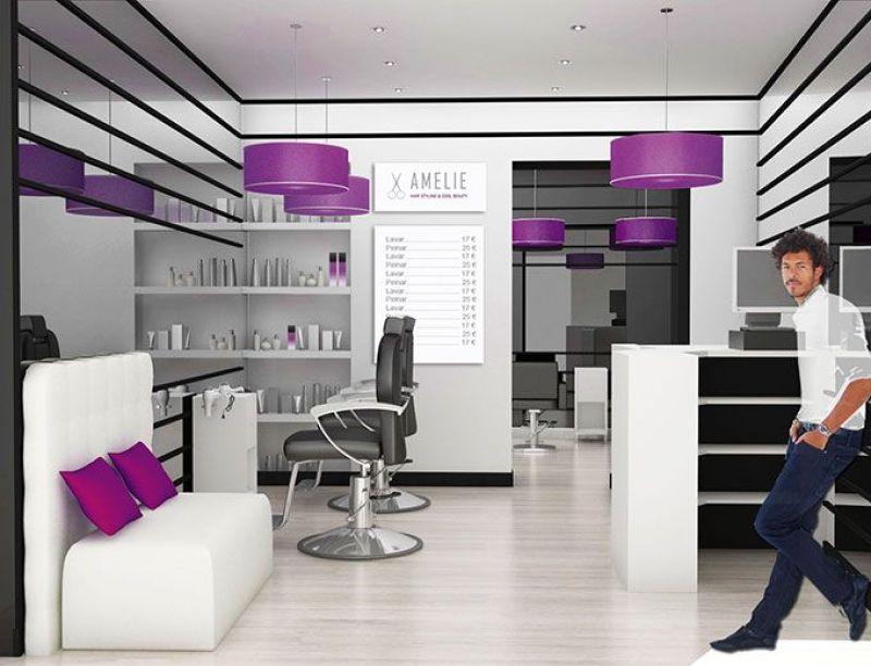 Dise o de locales peluquer a amelie - Diseno de peluquerias ...