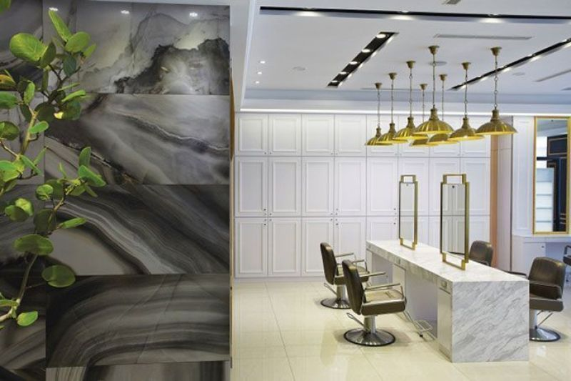 Decoración de una peluquería con estilo clásico renovado