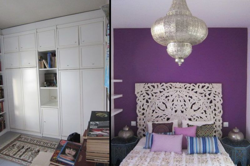 Antes y después del dormitorio de invitados