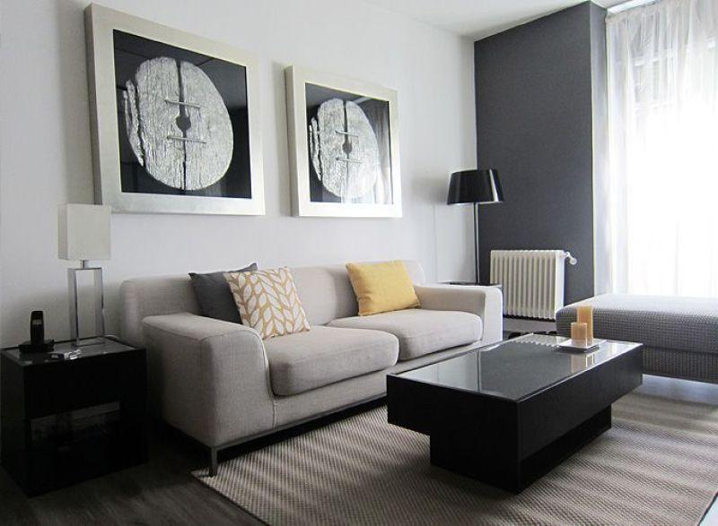 Decoradores en madrid el antes y despu s de un piso en malasa a - Decorar salones rectangulares ...
