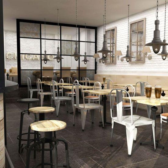Dise o de bares proyecto de estilo vintage industrial - Decoracion vintage madrid ...