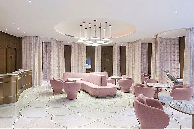 Centro de estetica decoraci n de lujo para el cuidado de for Amsterdam casa rosa