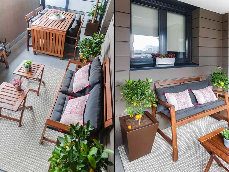 Decoración de un terraza