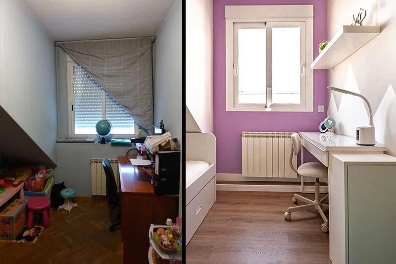 Antes y después dúplex