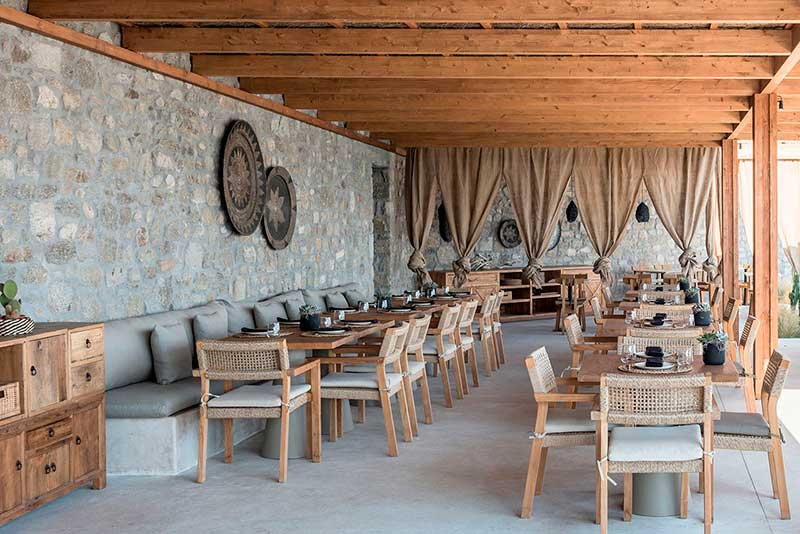 Restaurante veraniego en Mykonos