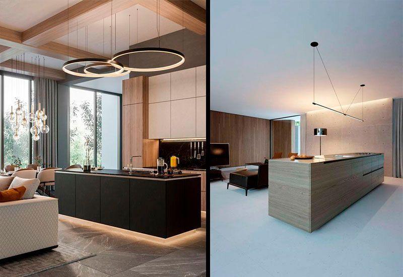 Iluminación de diseño para cocinas