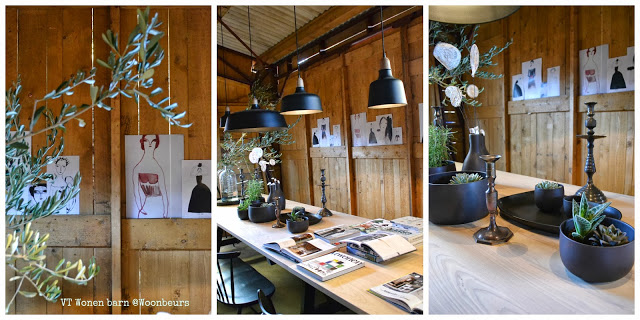VT Wonen Barn Woonbeurs 2013 interieur trends  2013 2014 black, green authentic By C-More