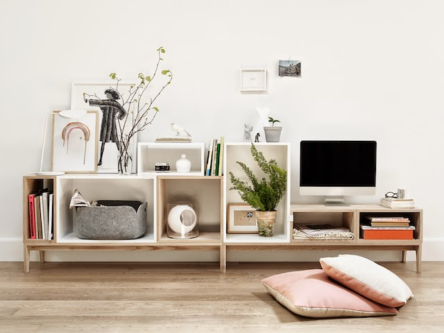 STACKED shelf system | Muuto at C-More interieuradvies.blogspot.nl TV cabinet