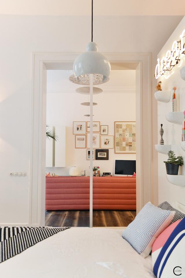 Vitra Design Kwartier Den Haag Studio van t Wout bedroom door livingroom
