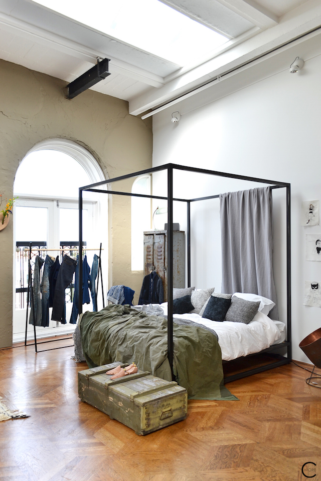 The Loft Amsterdam The Playing Circle August 2015   bedroom styling cast iron bed