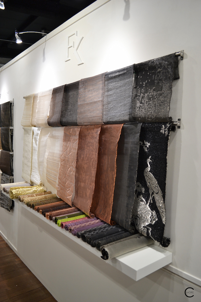 Fabric made of metal and copper wire | Material Heaven | Fameed Hkalique London | visited with Modenus #LondonBlogtour #Designhounds | Luxury interior trend