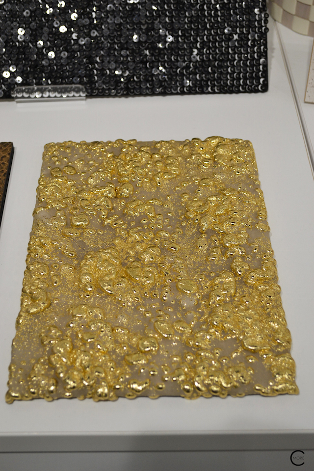 Gold fabric | Material Heaven | Fameed Hkalique London | visited with Modenus #LondonBlogtour #Designhounds | Luxury interior trend