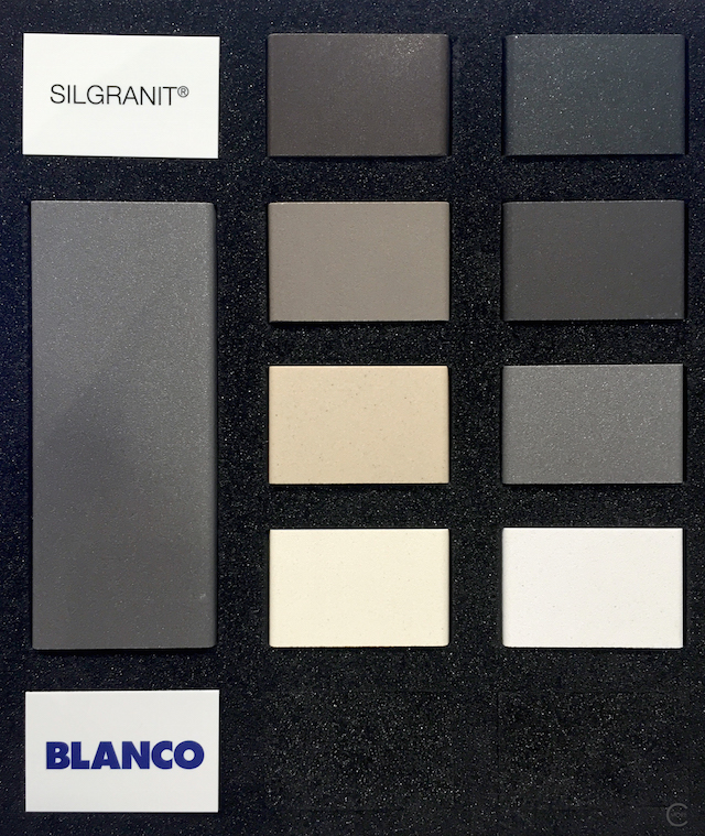 Blanco Silgranit colors shades of grey | BlogtourKBIS 2016 | picture by C-More