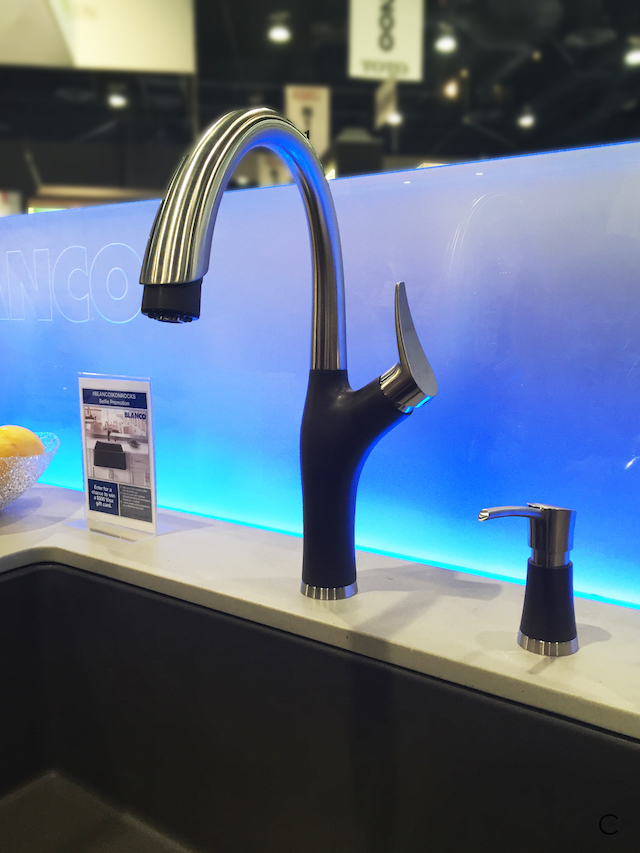 Blanco Silgranit | faucet and soap dispenser | BlogtourKBIS 2016 | picture by C-More