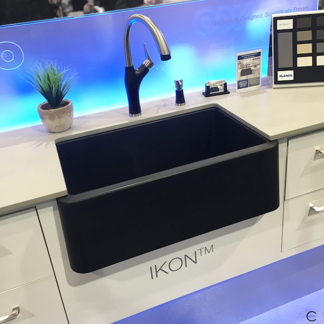Blanco Silgranit | IKON sink | faucet and soap dispenser | BlogtourKBIS 2016 | picture by C-More