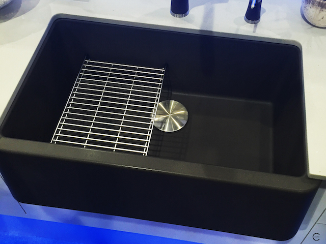 Blanco Silgranit | IKON sink | floating sink grit |Capflow Drain Cover | BlogtourKBIS 2016 | picture by C-More