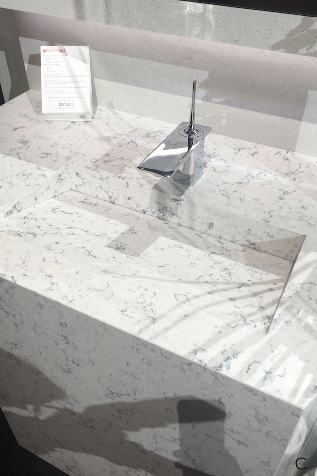 BlogtourKBIS 2016 | Las vegas | Kitchen and bathroom trends | Marble trend | Wilsonart solid surface quartz sink | picture by C-More