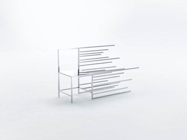 Nendo 50 manga chairs during Milan Design Week 2015
