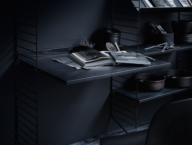 String System | Black | Home Office | Organize