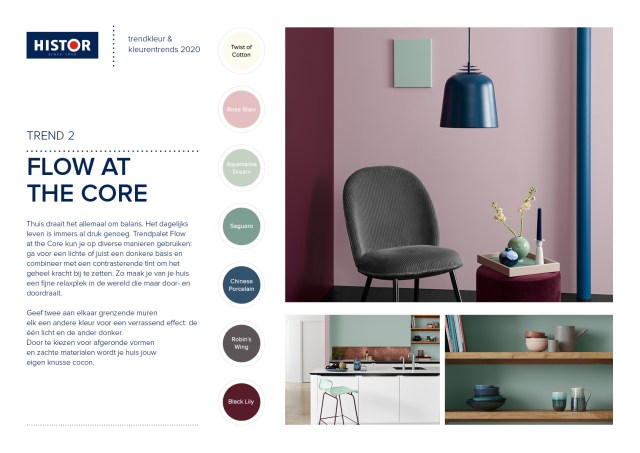 Histor-trendsheet Trend color 2020 | Flow at the Core | C-More