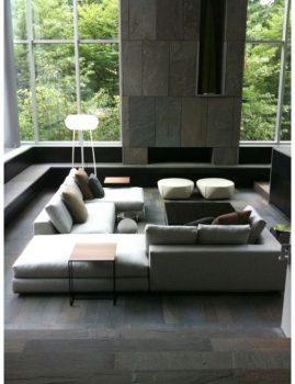 loungebanken voor een moderne woonkamer-v1