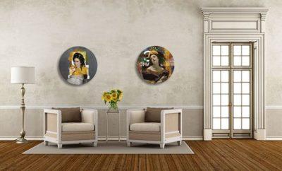 Schilderijen met ronde vorm