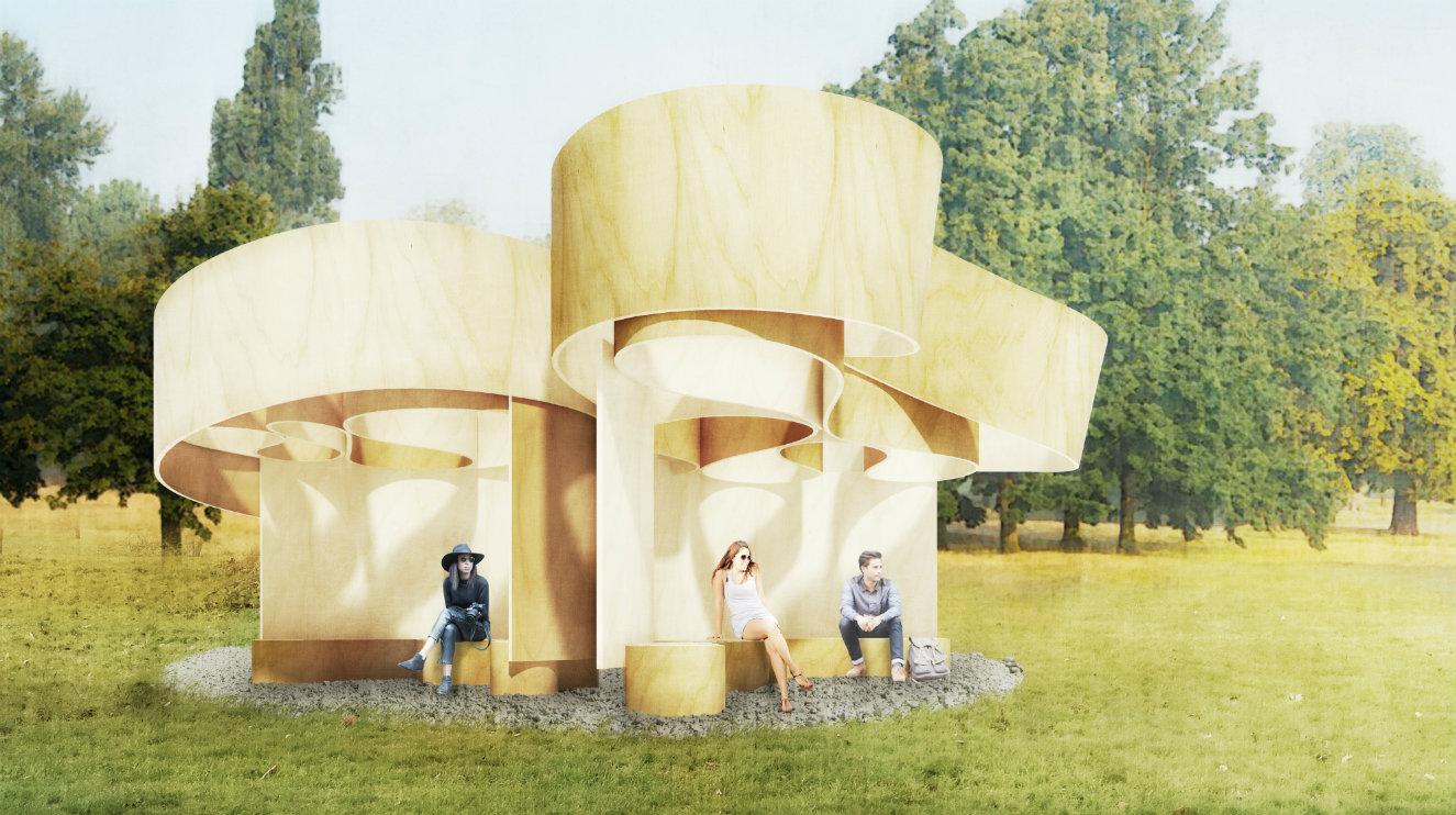 'Casa Veraniega' diseñada por Barkow Leibinger. Render © Barkow Leibinger.