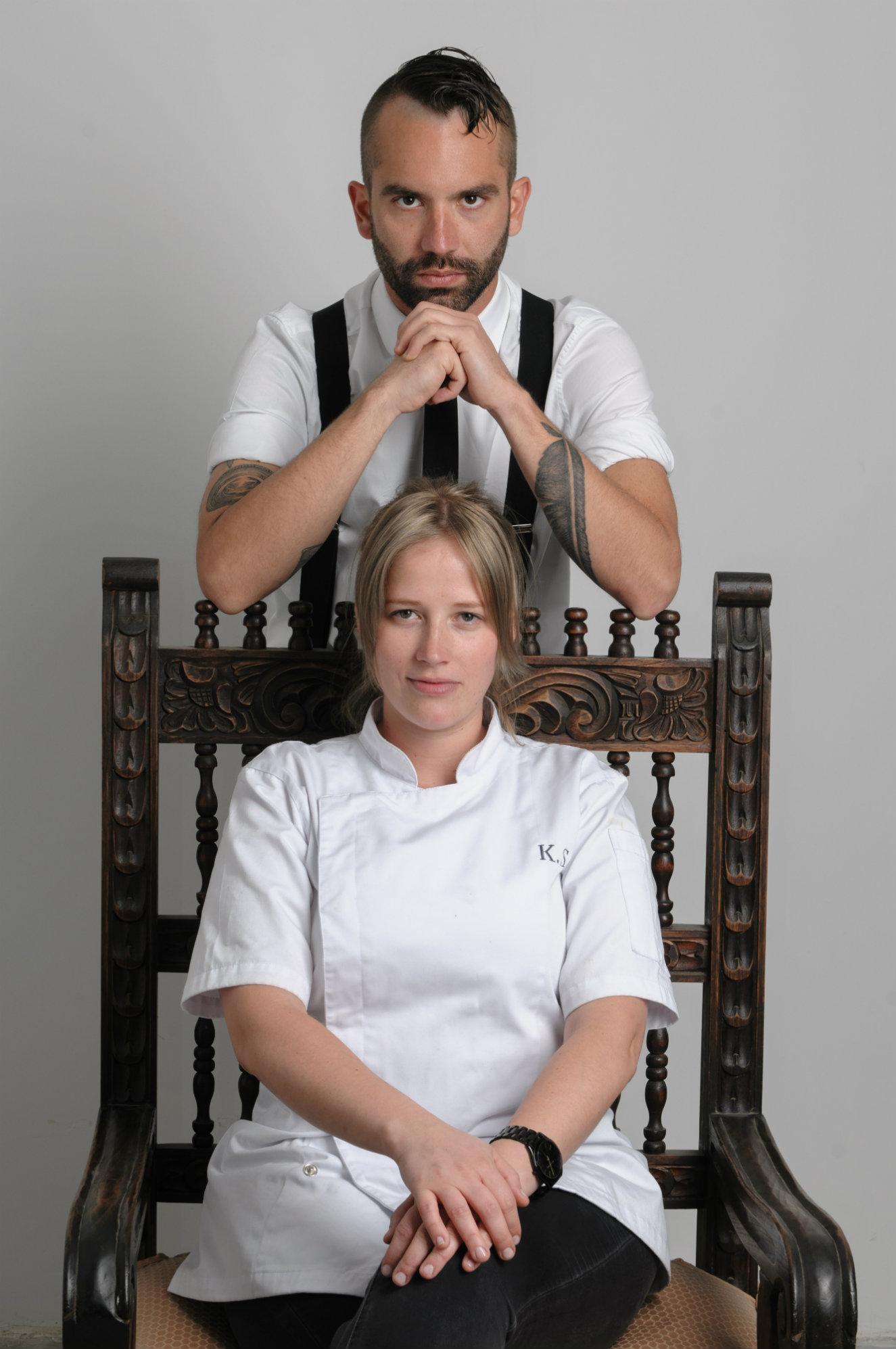 Michelangelo Cestarí y la chef Kamilla Seidler. Fotogtrafía: cortesía BoConcept.