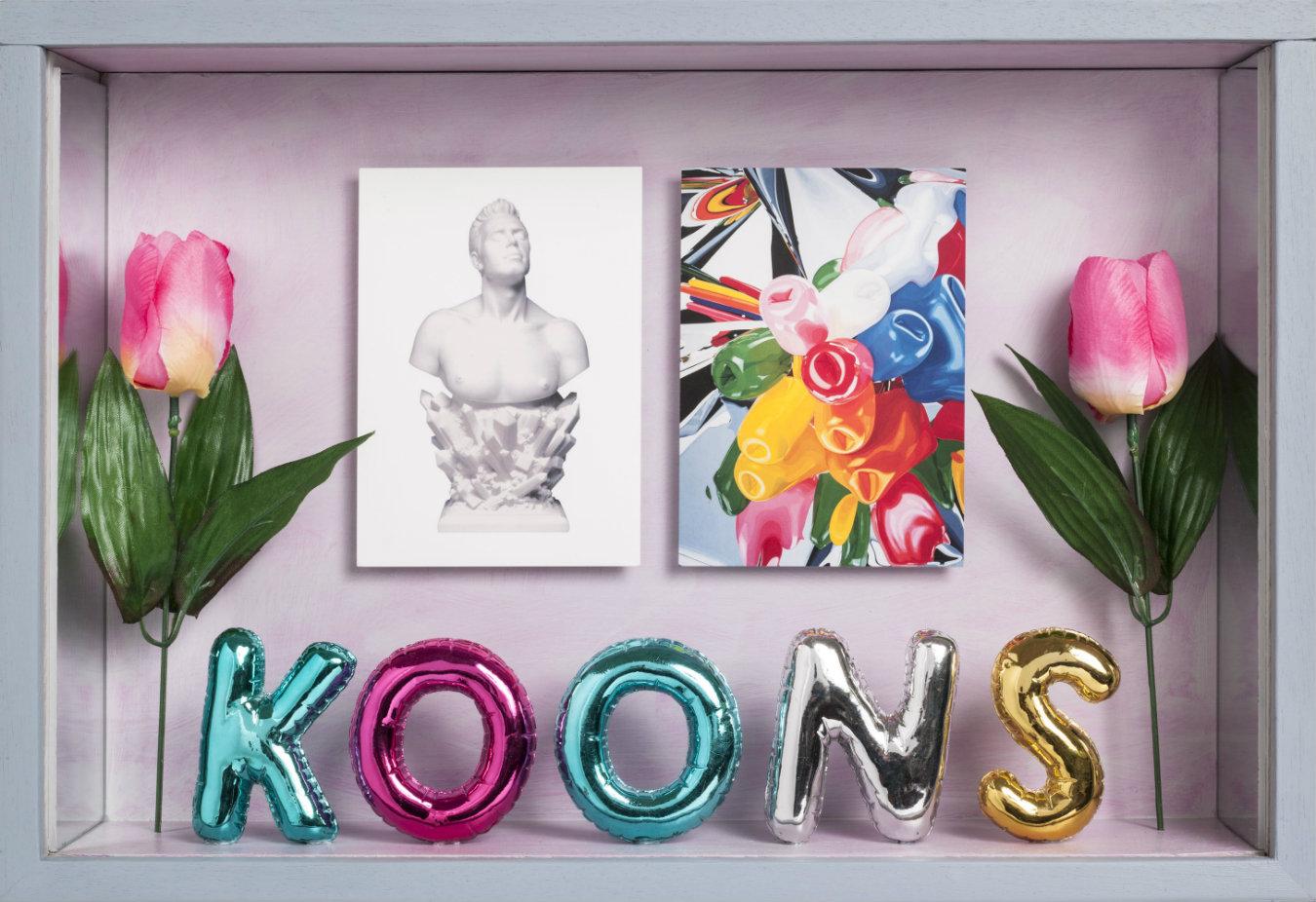 Elsa Zambrano. Jeff Koons, montaje, 31 x 45.5 x 10 cm. 2014. Fotografía: cortesía, Beatriz Esguerra Art.