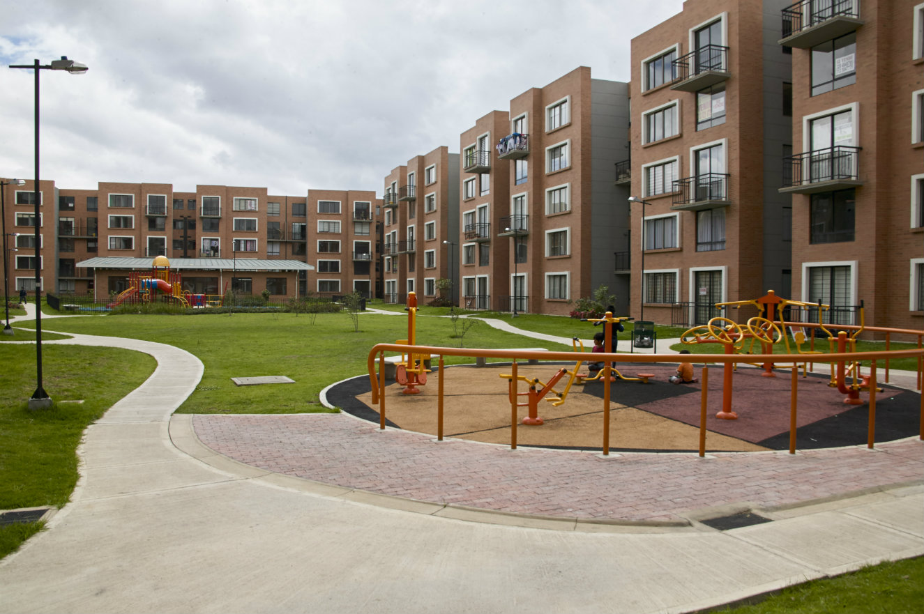 Conjunto de vivienda multifamiliar Palmar, en Madrid, Cundinamarca. Fotografía: cortesía, CEMEX Colombia.