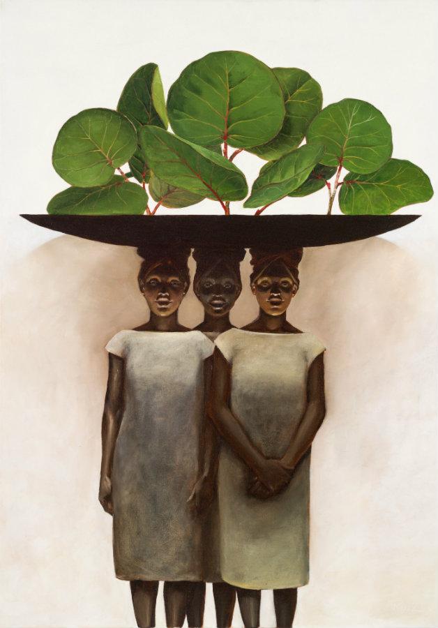 Uvitas de playa. Óleo sobre lienzo, 80 x 100 cm. 2016. Cortesía, Beatriz Esguerra Arte.