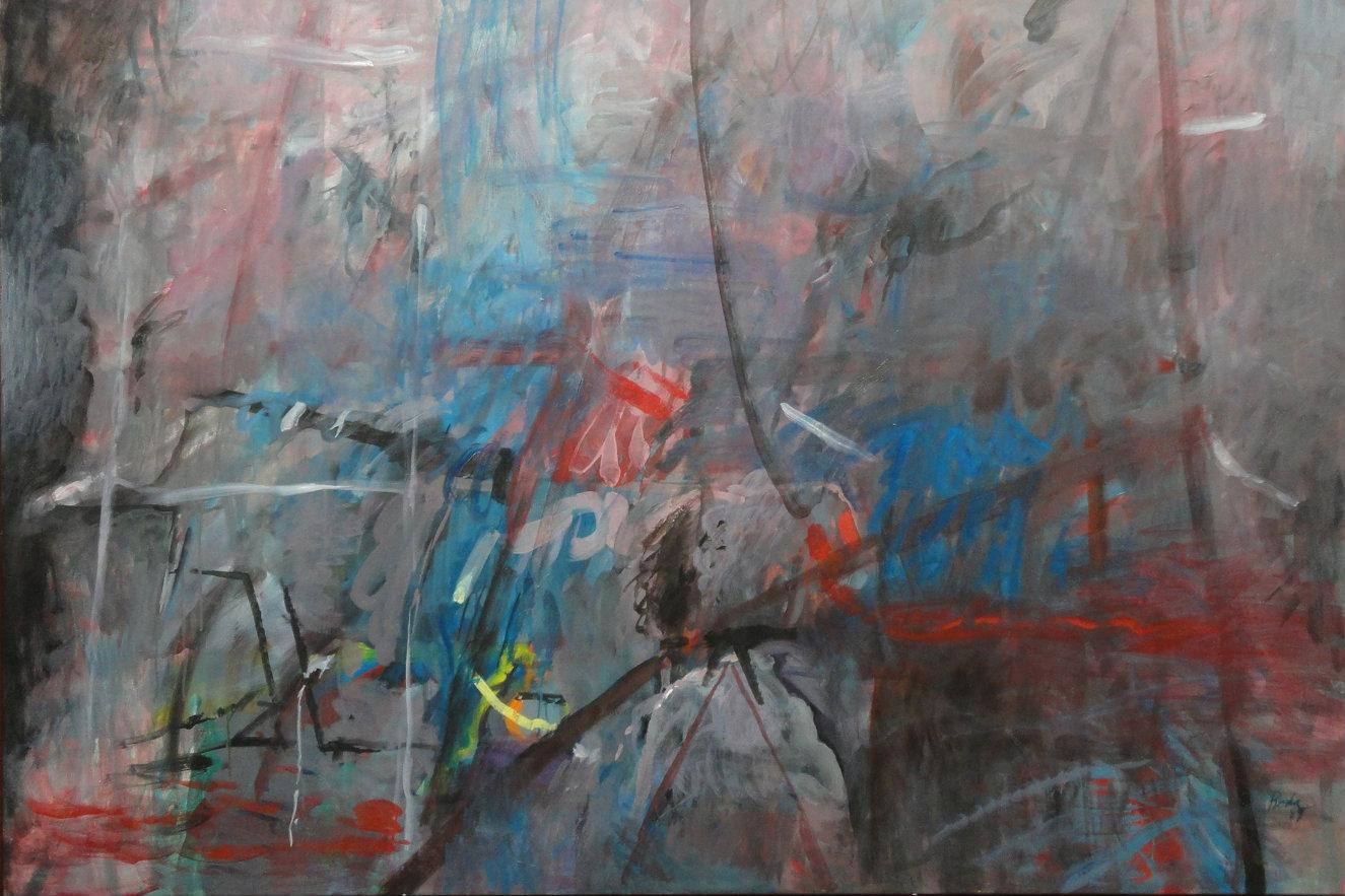 Juan Antonio Roda. Montaña. Acrílico sobre lienzo.