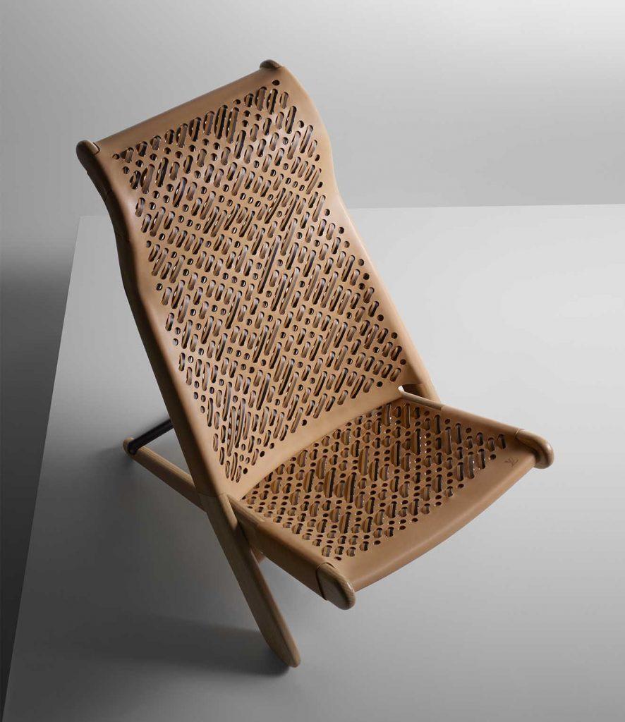 Silla 'Palaver' de Patricia Urquiola para Louis Vuitton. Fotografía: cortesía Louis Vuitton.