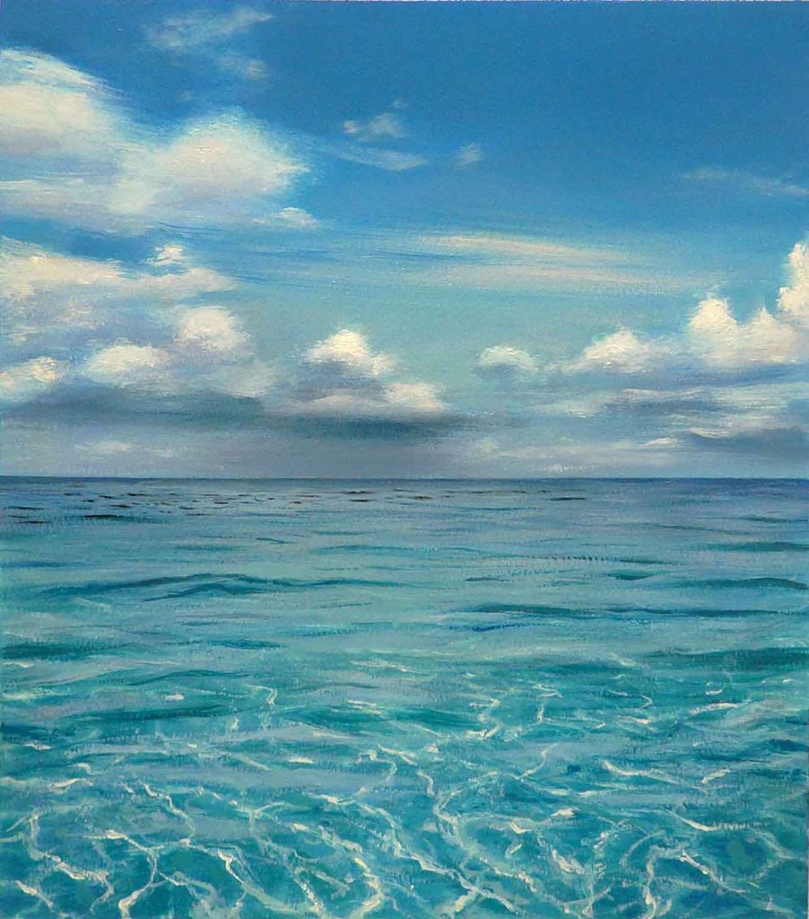 'Wading in the shallows, Bahamas', 2010. Óleo sobre papel. 76.2 x 56 cm.
