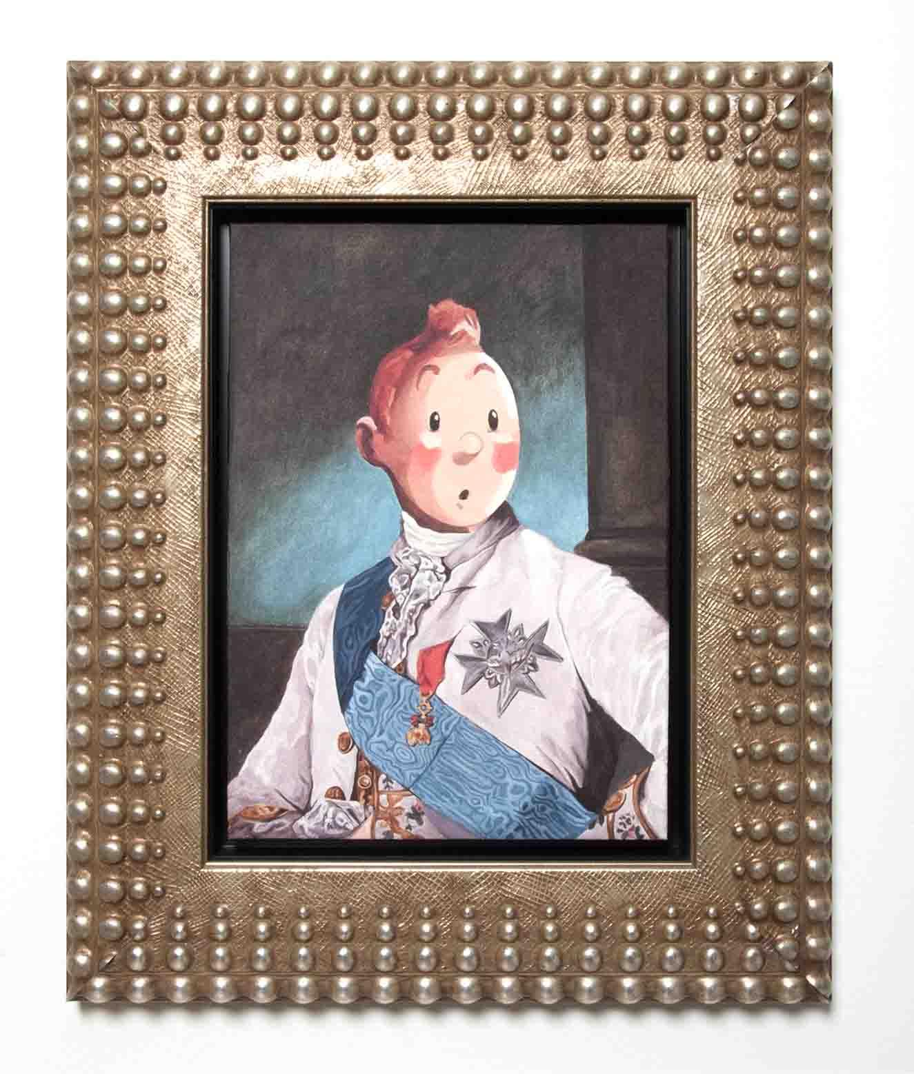 Noble Tintín #2. Acrílico sobre madera. 50 x 35 cm. Fotografía: cortesía Gabriel Ortega.