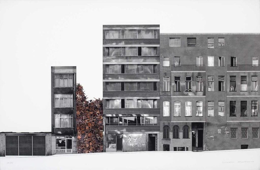 Doris Salcedo. Istambul Project II.2003. Prezo-pigmento en papel de grabado alemán Hahne. 62 x 94 cm. Fotografía. cortesía Bogotá Auctions.