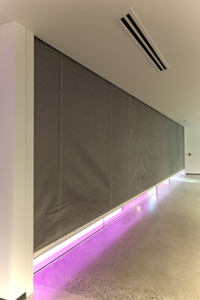 Vertical Coiling Fabric SmokeFire Rated Curtain