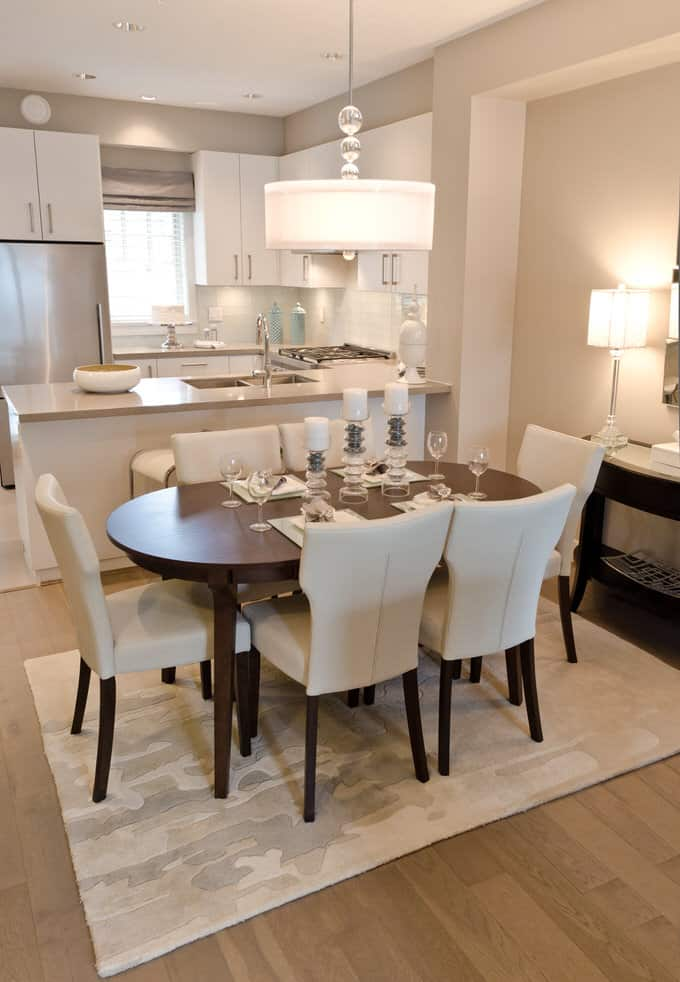 43 Stylish Dining Room Decorating Ideas  Pictures  In many newer homes  the dining room may actually be part of an open  concept plan combining living  dining and kitchen areas  Take a cue from  this dining